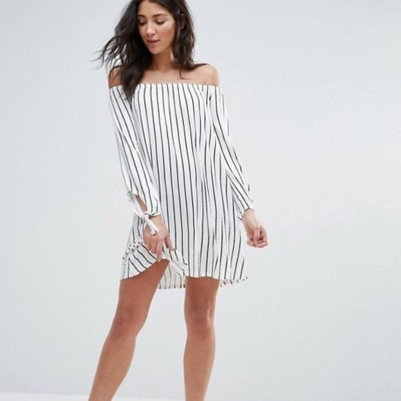 f12842a1b7a4 ASOS Dresses   Skirts - Daisy Street Striped Off The Shoulder Dress